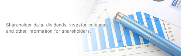 Shareholder data, dividends, investor calendar, and other information for shareholders.
